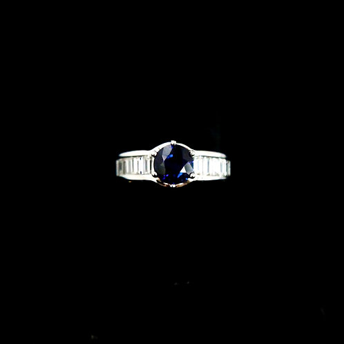 Round Sapphire Ring