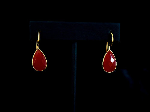 Teardrop Red Earrings