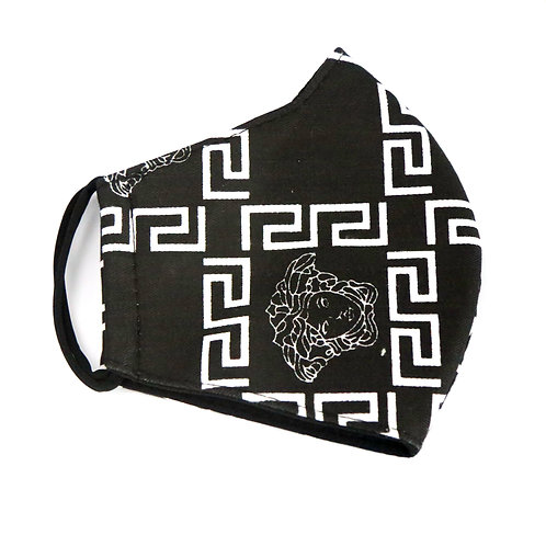 Black and White Fashion Mask
