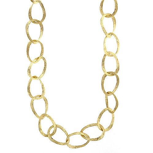 14K Textured Link Necklace