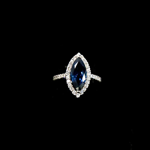 Marquis Sapphire Ring