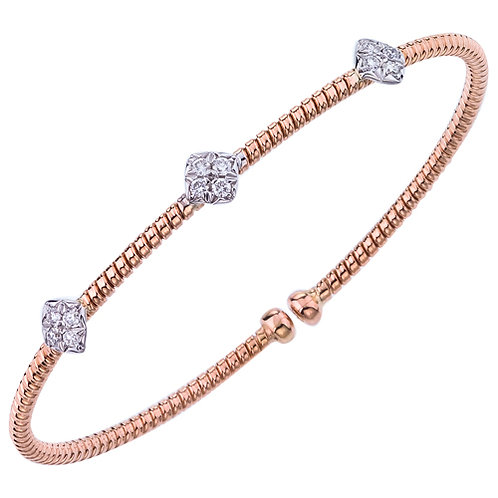 3 Section Rose Gold Bracelet