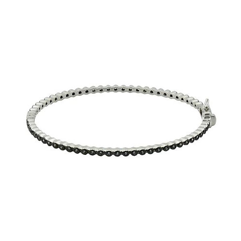 Signature Bezel Pave Hinge Bangle