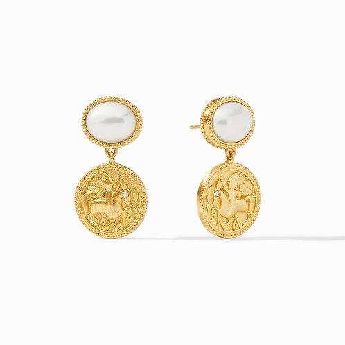 Pearl Coin Midi Earring