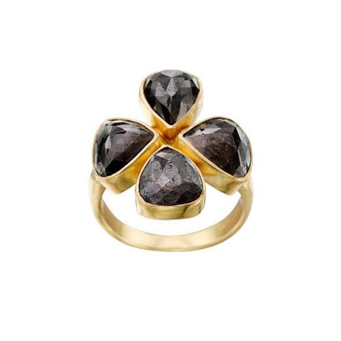 Handset Black Diamond Ring