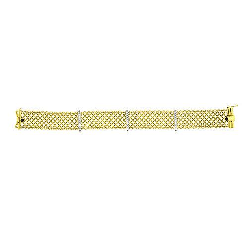 Mesh Bracelet with Diamond Bars
