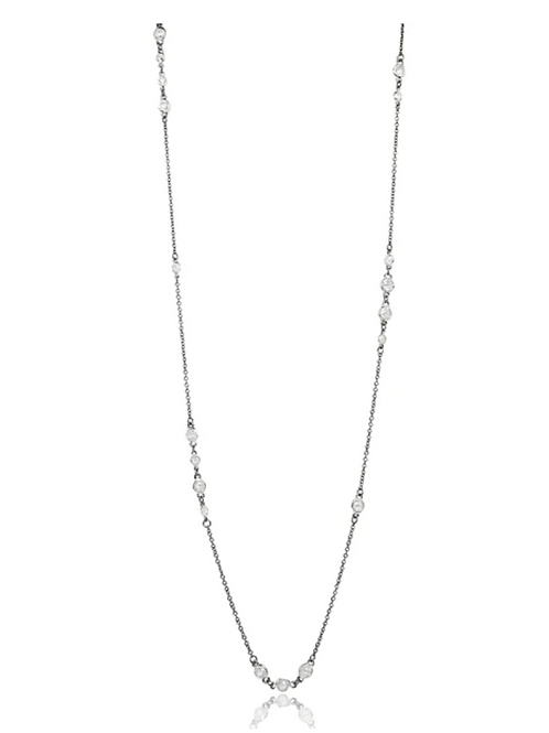 "Silver Signature Cluster 36"" Necklace"