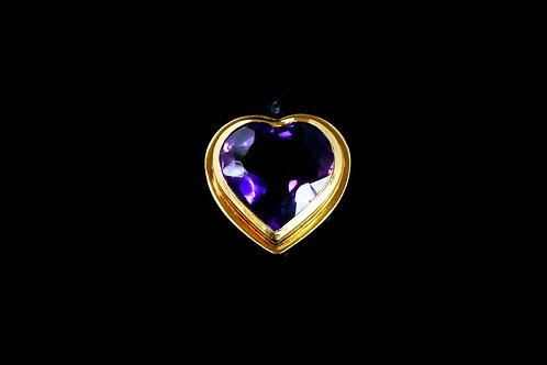 Amethyst Heart Ring