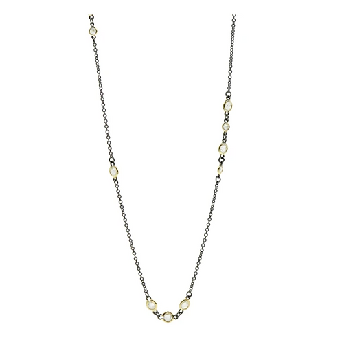 Cluster Bezel Wrap Necklace
