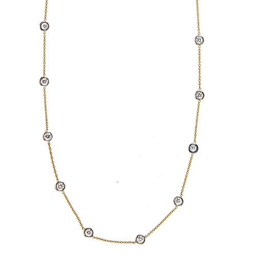 18k Yellow Diamonds by the Inch Necklace