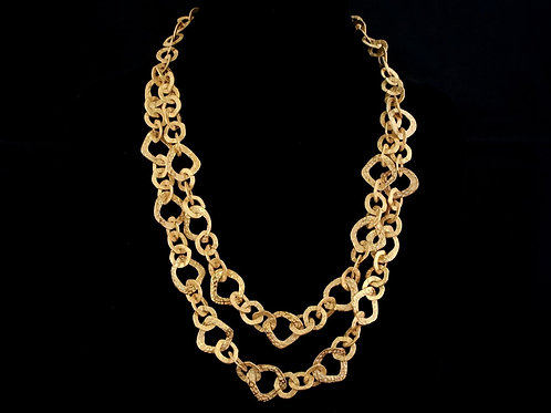 Double Strand Open Link Necklace