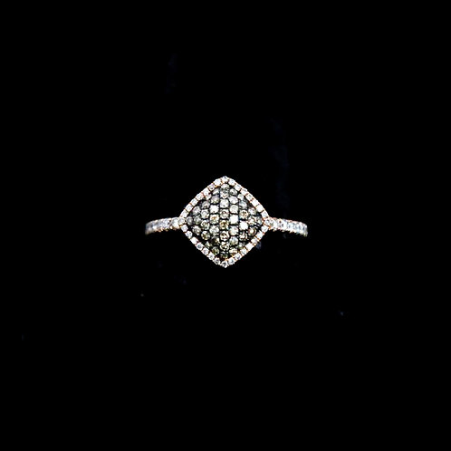 Square Top Champagne Ring