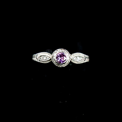 Antique Style Pink Sapphire Ring