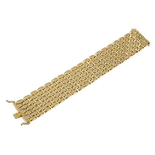 14K Yellow Brick Bracelet