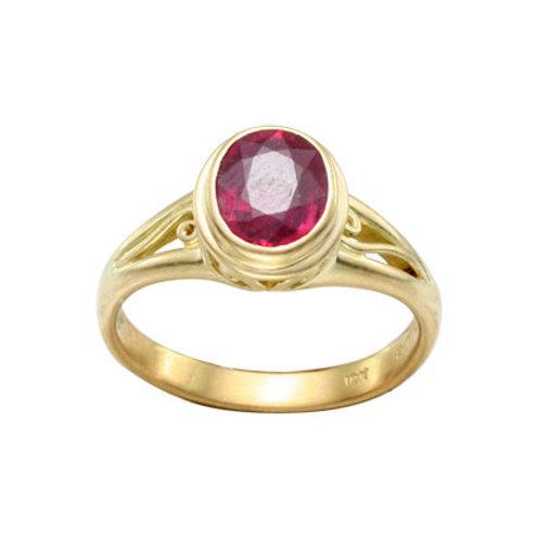 Medium Oval Carved Bezel Ring