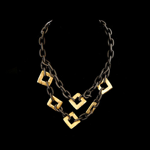 Double Chain with Gold Squares