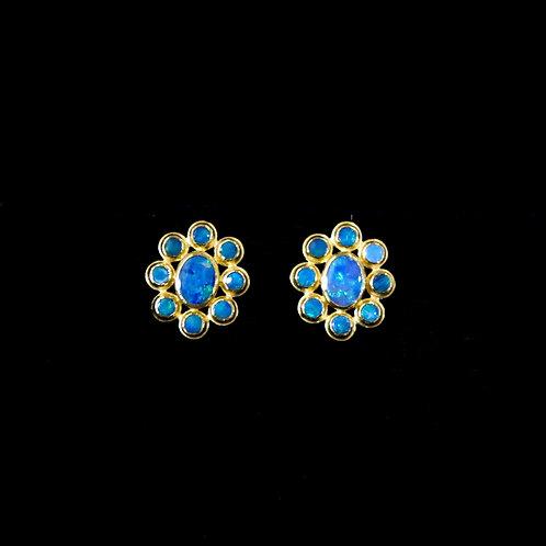 Opal Flower Studs