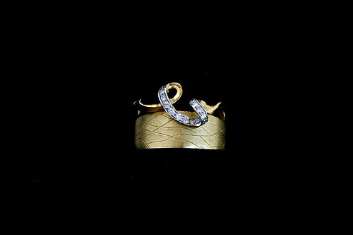 14K Yellow Gold Ring with Diamonds