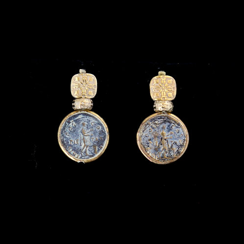 Dark Coin Earrings