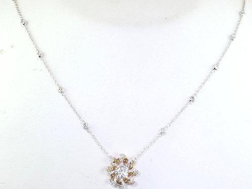 Golden Diamond Pinwheel Necklace