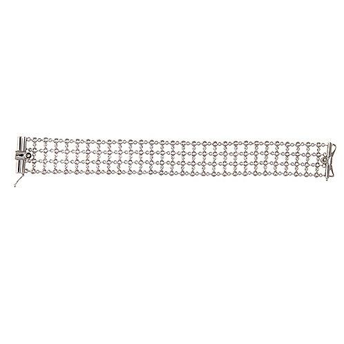 4 Row Bezel Bracelet