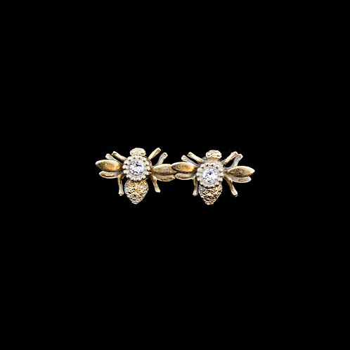 Bee Studs with CZ Center