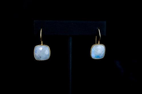 Square Moonstone Earrings