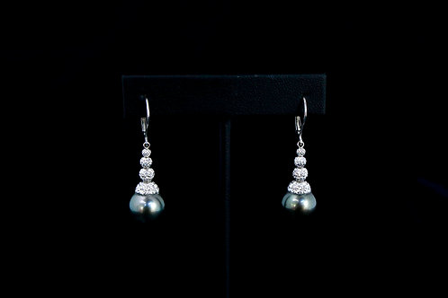 Dark Tahitian Pearl Earrings