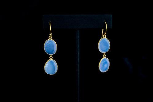Chalcedony Double Drop Earrings