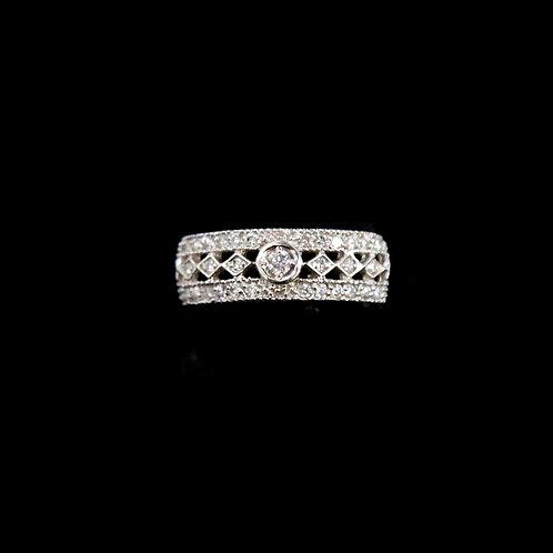 Open Center Diamond Bezel Ring