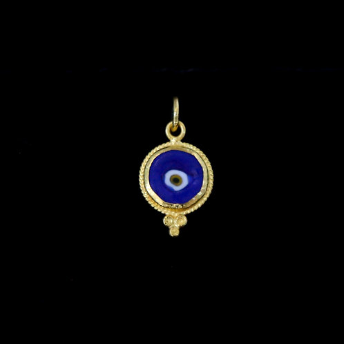 Dark Blue Round Eye Charm