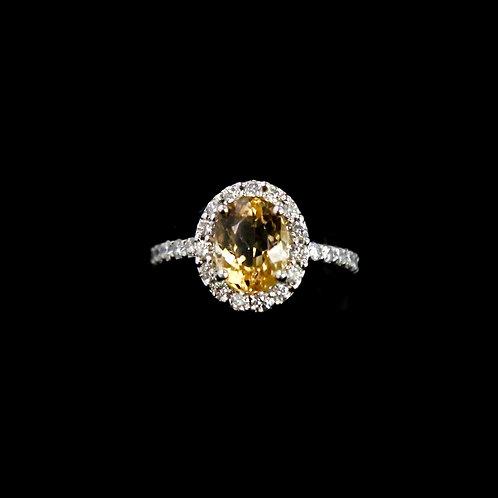 Orange / Yellow Topaz Ring