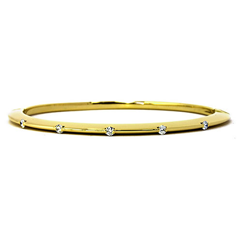 18k Bangle with 5 Diamond Accents