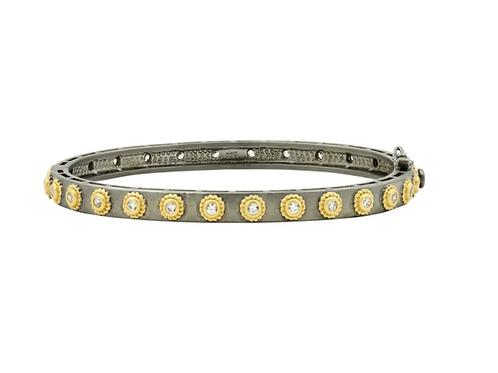 Gold Studded Eternity Hinge Bracelet