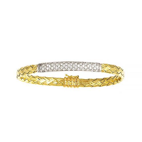Woven Bracelet with Diamond Bar