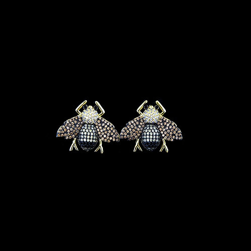 Bee Studs with Gold Wings