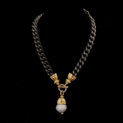 Diamond Cut Chain with Pave Drop