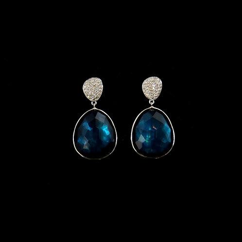 Dark Azul Drop Earrings