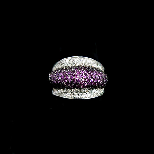 Dome Style Pink Sapphire Ring