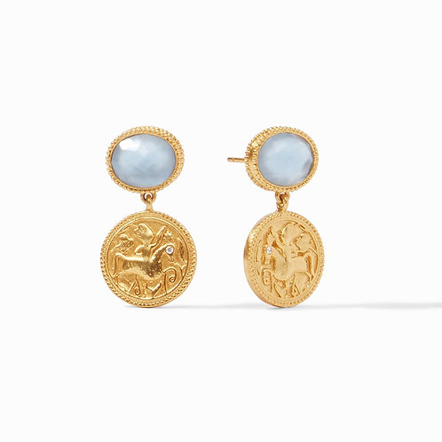 Coin Midi Earring (Iridescent Ice Blue)