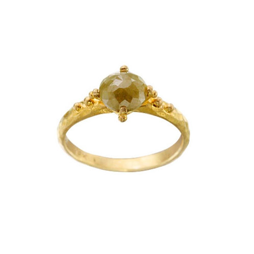 Small Yellow Diamond Ring