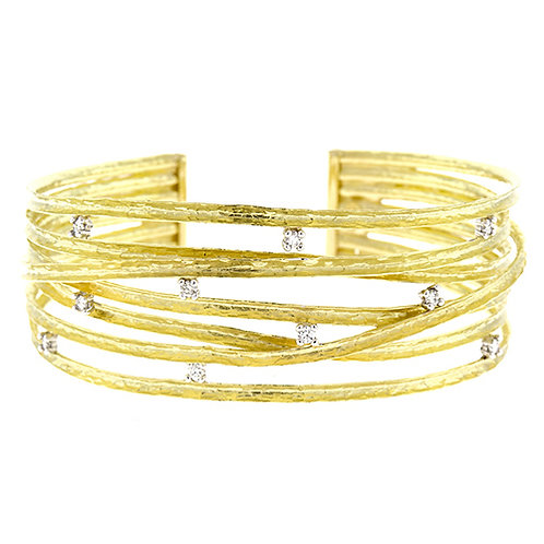 18K Wrap Bracelet with Diamonds