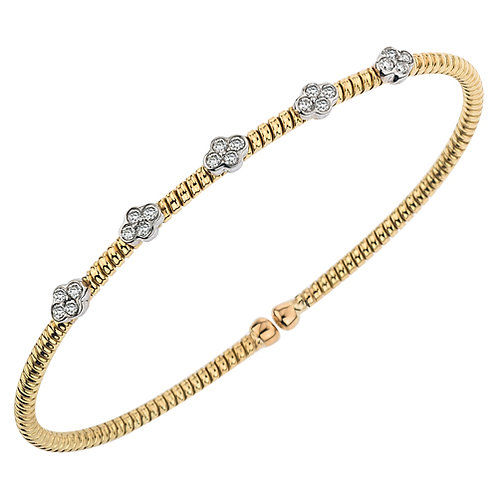 5 Section Yellow Gold Bracelet