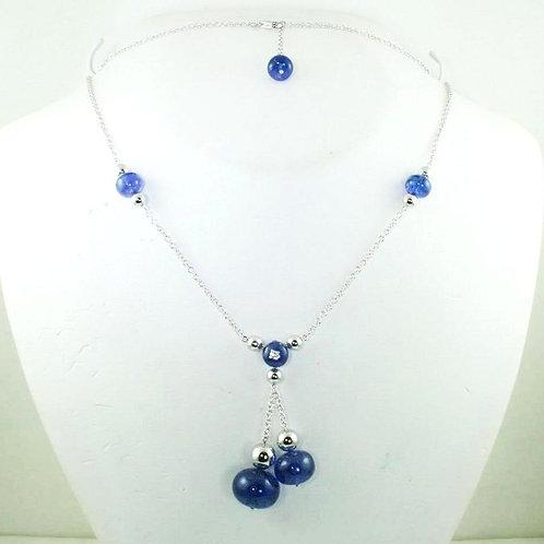Blue Tanzanite Bead Necklace