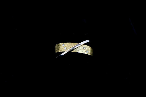 14K Criss Cross Ring