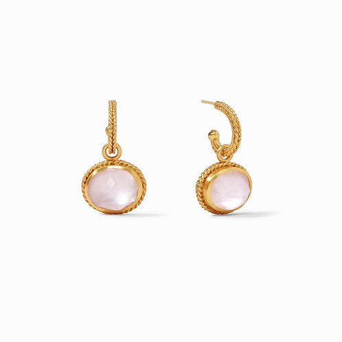Iridescent Rose Calypso Hoop & Charm Earring
