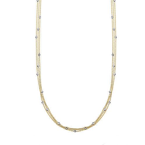 3 Strand Diamond Necklace