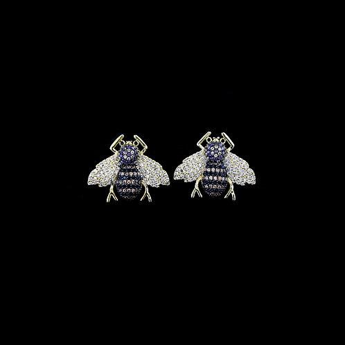 Bee Studs with Purple Head
