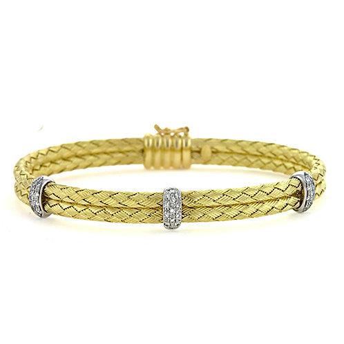 Double Braided Bracelet with Diamonds