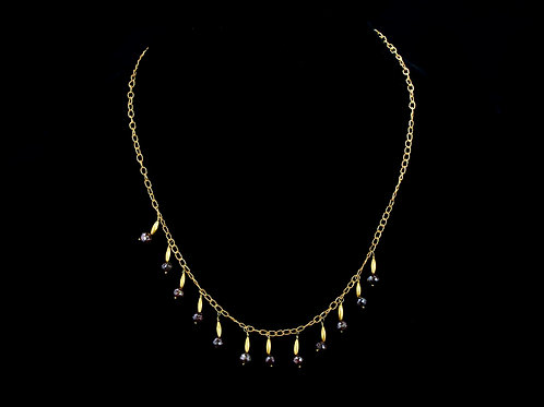 18K Necklace with Brown Diamonds